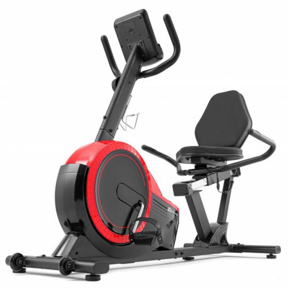 Горизонтальный велотренажер Hop-Sport HS-60L Pulse black / red 2020