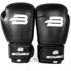Боксерские перчатки BoyBo Basic к/з 10 OZ черн. SF1-45-10
