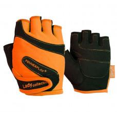Перчатки для фитнеса PowerPlay 1729 D женские Оранжевые XS