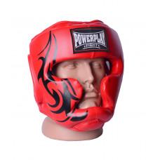 Боксерский шлем тренировочный PowerPlay 3043 XL Красный