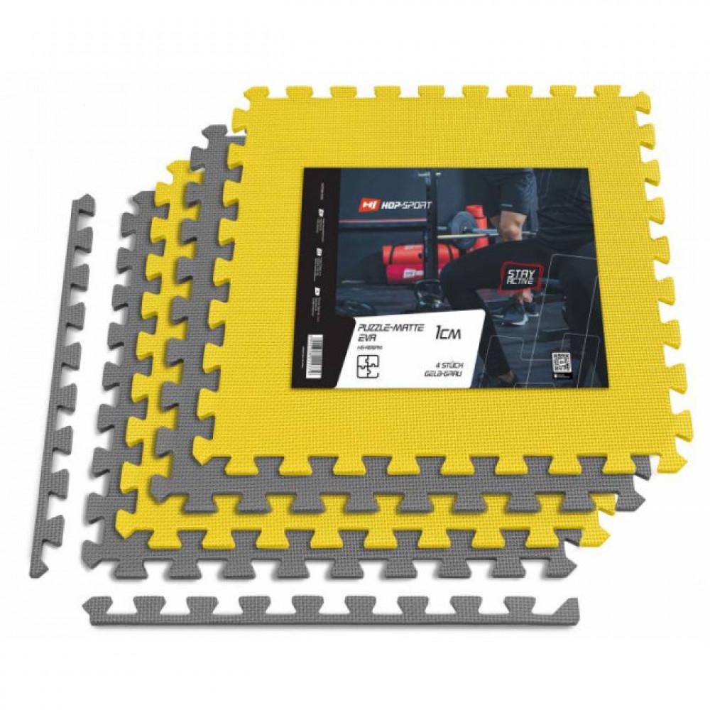 Мат-пазл EVA 1cm HS-A010PM - 4 части желто-серый
