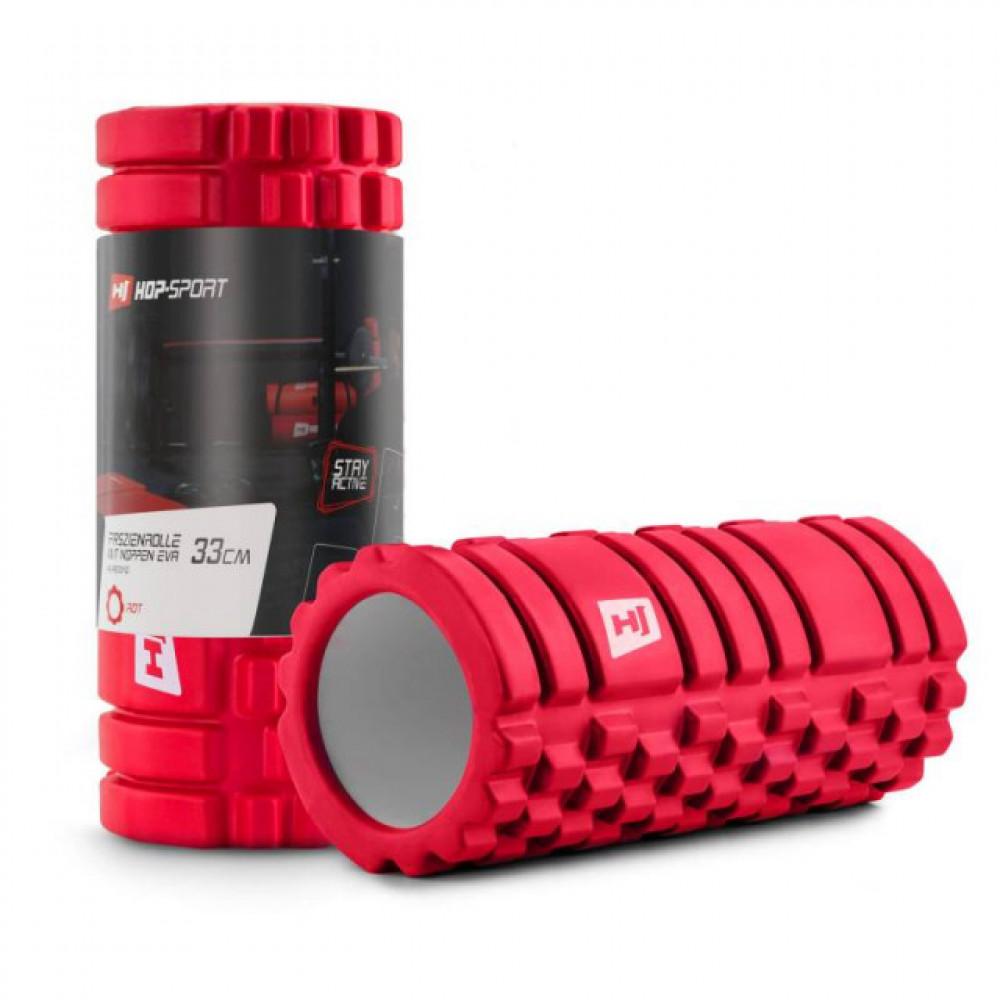 Роллер массажер EVA 33 см red