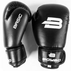 Боксерские перчатки BoyBo Basic к/з 14 OZ черн. SF1-45-14