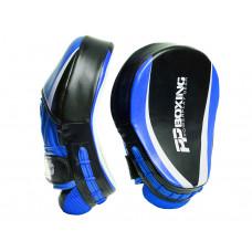 Боксерские Лапы PowerPlay 3050 Черно-Синие PU [пара]