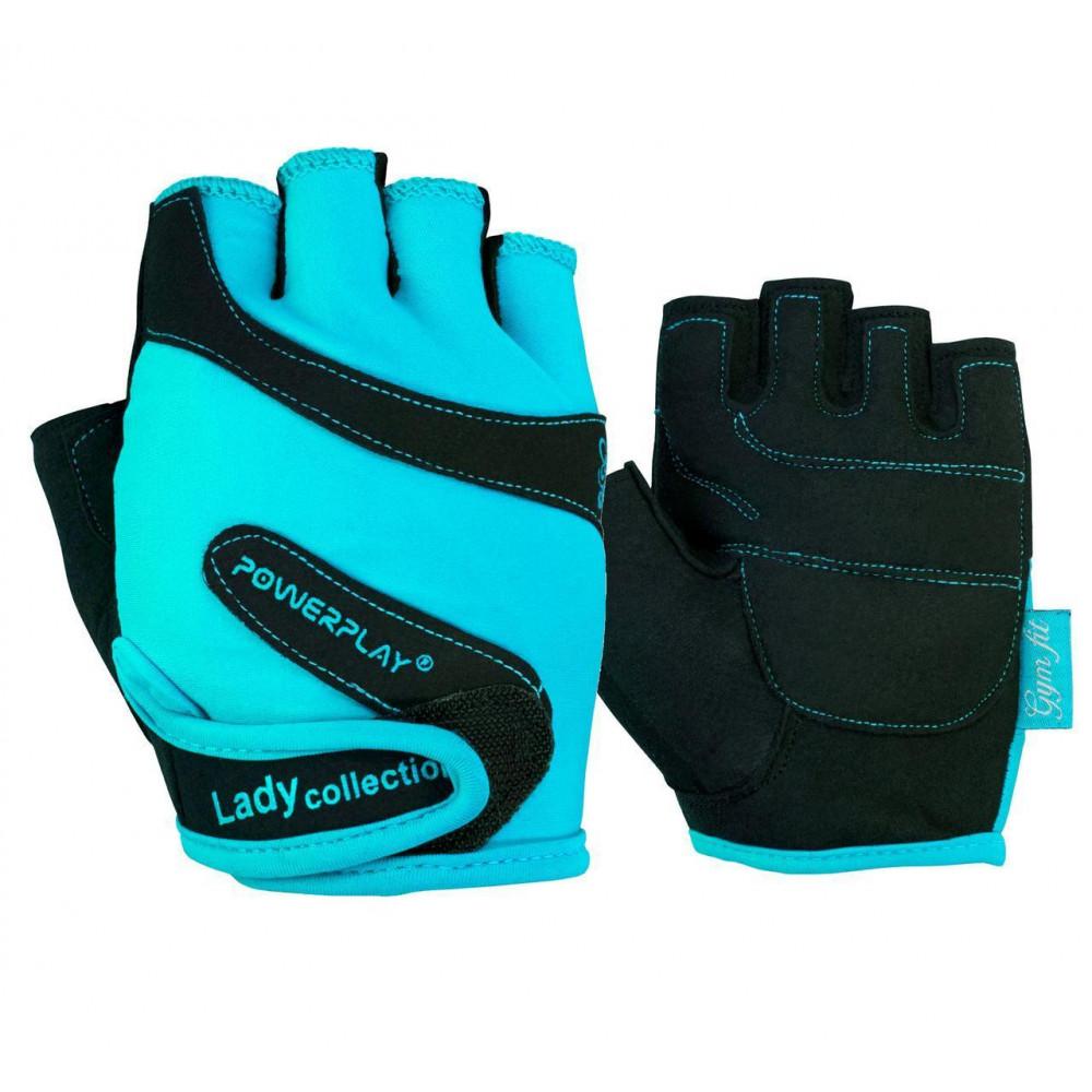 Перчатки для фитнеса PowerPlay 1729 A женские Голубые XS