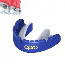 Капа OPRO Gold Braces Prl Blue / Prl (art.002227006)