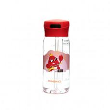 Бутылка для воды CASNO 400 мл KXN-1195 Красная (краб) с соломинкой