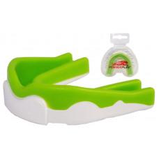 Капа боксерская PowerPlay 3302 JR Зелено-Белая