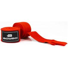 Бинты боксёрские BOYBO хлопок Красные 2,5 метра