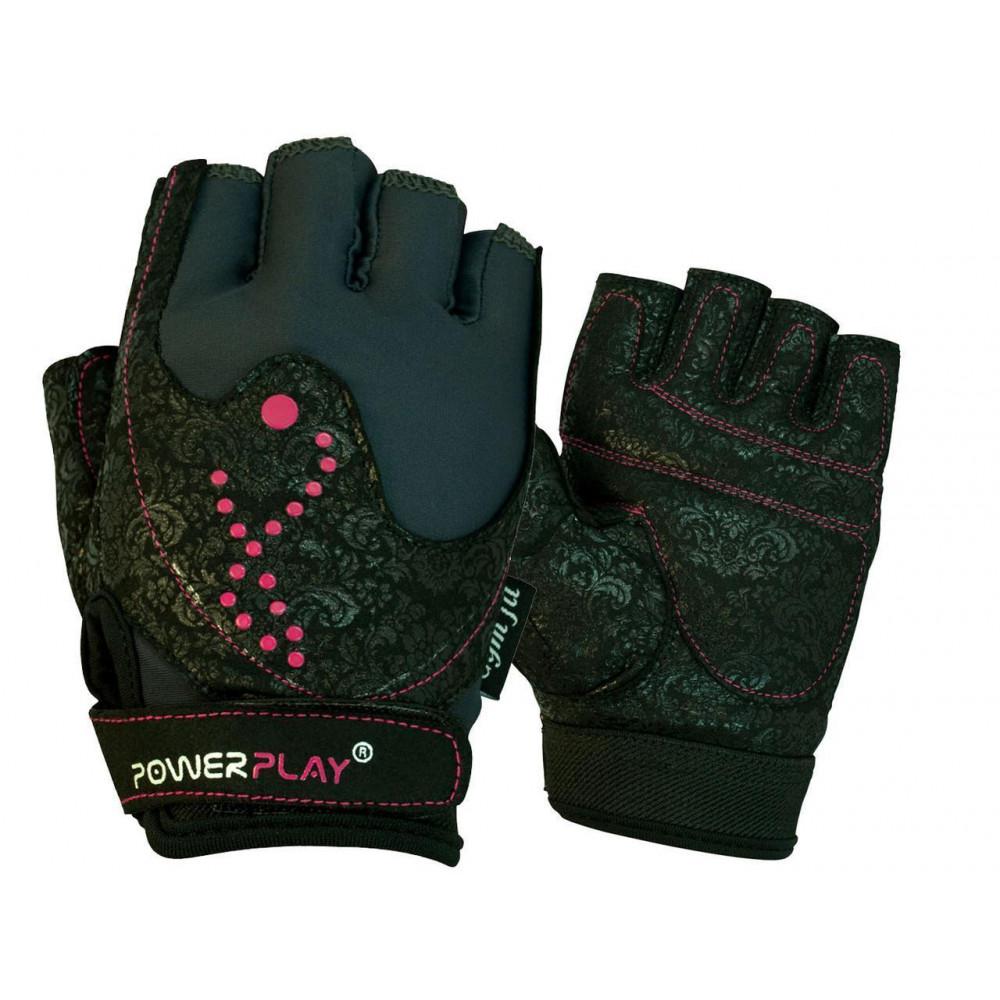Перчатки для фитнеса PowerPlay 1744 женские Черные XS