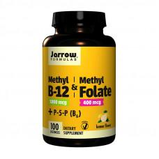 Methyl B12 & Methyl Folate plus P-5-P B6 (100 lozenges, lemon)