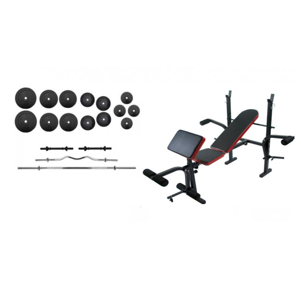 Скамья для жима RN Sport + набор силовой на 100 кг